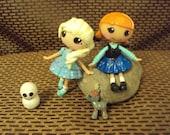 mini lalaloopsy frozen set of Anna and Elsa art doll custom toy