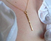 Vertical Bar Necklace / Layering Necklace / Hammered Bar Necklace / Gold Fill Necklace / Minimalist Necklace / Dainty Gold Necklace