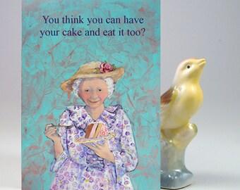 birthday card - birthday cake