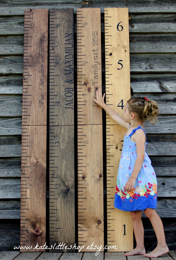 Giant Ruler. Premium Wide Ruler. Giant Wooden Growth Chart. HAND PAINTED. Growth Chart. Childrens Growth Chart. Rustic Home Decor.