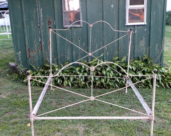 Antique Wrought Iron Bed- Civil War Era Carlisle  Gettysburg  Double Bed