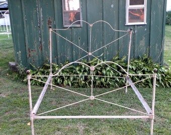 antique steel bed frame wrought iron bed frame civil war era cast iron tubular steel