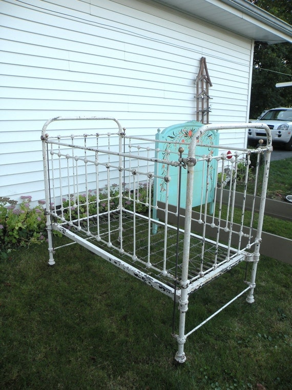 antique wrought iron baby bed crib carlisle by casualhomestyle