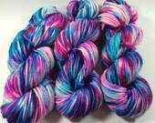 Bulky Superwash Merino, Hand Painted Yarn, Raised By The Rain, 100 grams,  multicolored yarn, Chunky Yarn, Bulky Yarn, superwas