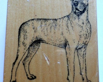 Stamp Gallery Great Dane Puppy Dog Wooden Rubber Stamp