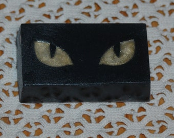 Cat Eye Soap ~ Watcher in the Night Soap ~ Glycerin Soap ~ Sparkle Gold and Black Soap