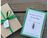 Another Pea to our Pod Necklace Pregnancy announcement, baby announcement, new baby, pea pod pendant, pea necklace, silver
