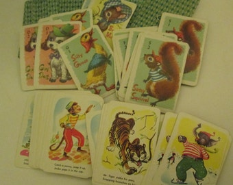 1963 Whitman Treasure Kit of Midget Cards.  Aurthors, Snap, Hearts, Crazy Eights, Old Maid, Animal Rummy. Y-083