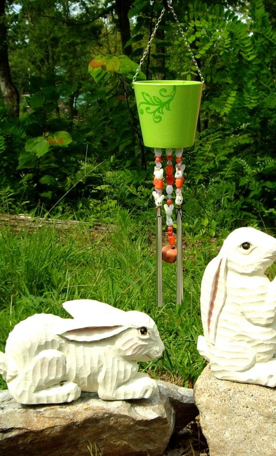 wind chimes with bunny rabbit decor decor easter bunny