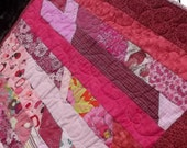 Pretty Pink Scrappy Baby Lap Quilt
