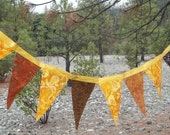 Autumn Colors Prayer Flags Bunting  Double Sided Cloth Banner