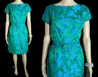 Vintage 1950s Dress // Hourglass // Wiggle //Two Tone //Party Dress // Couture // New Look // Femme Fatale // Cocktail //Wedding