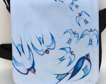 Blue Birds!- Soaring cross body bag