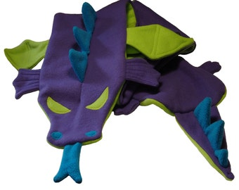 Purple Dragon Fleece Scarf