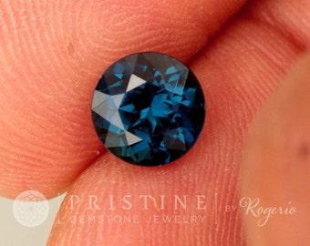 Ceylon Blue Sapphire Portuguese Cut 8 MM Round Appraised at 3895.00