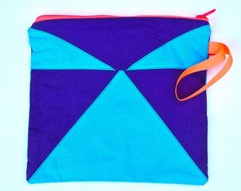Toiletry Travel Makeup Bag Pouch Case Storage Men Women Purple  Turquoise  Orange Geometric