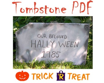 Halloween Tombstone PDF Easy Tutorial and Instruction  Instant Download