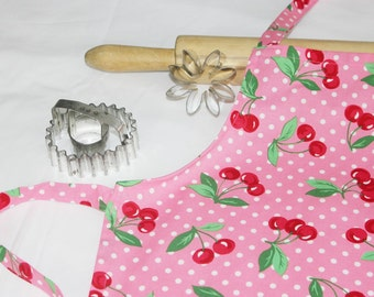 Cherries and Dots Child Apron