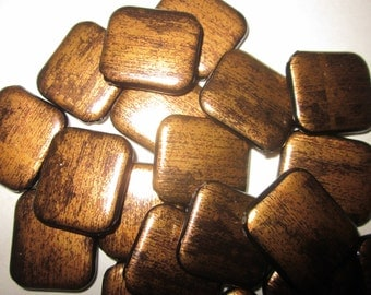 Brown and Bronze Acrylic Beads 25x22mm 10 Beads