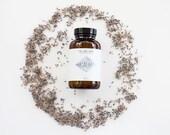 Salts / Calm. All-natural bath soak. Organic. Vegan. Lavender / Bergamot / Sandalwood