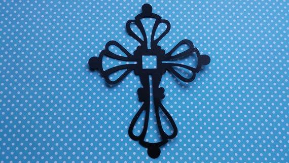 Decorative Cross Die Cut 10CT-   Color Choices Available