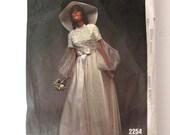 1970 Wedding Dress & Bridesmaid Dress Pattern Vogue Bridal Design 2254 Womens High Waist Maxi Dress Sewing Pattern Misses Size 10 Bust 32.5