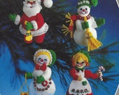 Vintage Felt Ornaments Kit Christmas Ornaments Santa and Friends The Christmas Collection 6122 Paragon Needlecraft UnOpened Kit