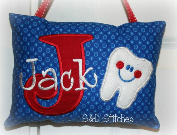 Tooth Fairy Pillow for Boys Personalized Christmas Gift