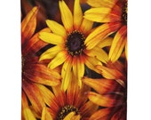 Hanging Wall Tapestry. Orange and Yellow Flowers. Floral Photography. Floral Home Decor. Dorm Decor. Bright. Sunny. Orange. Yellow. Summer