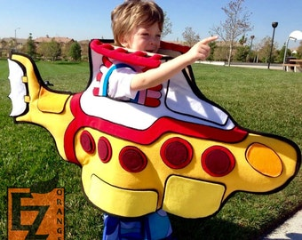 Yellow Submarine costume - one of a kind, sample sale - fits kids and adults