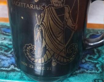Vintage Fire King Sagittarius Zodiac Mug