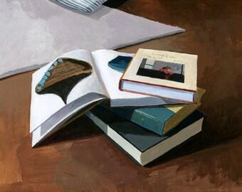 "8x10"" print - book still life - ""Book Stack 1"""
