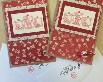 Christmas Candies 2 Card Set
