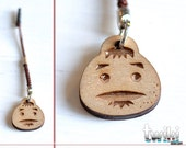 Zelda Goron Mask mini wooden charm accessory. -- For cellphone, mobile phone, bag, handheld console portable console
