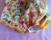 SassyCloth one size pocket diaper with Lion King Simba and Nala cotton print. Made to order.