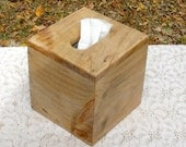 "The BlackWater TBC - White Pine Tissue Box Cover, ""Cube Style"""
