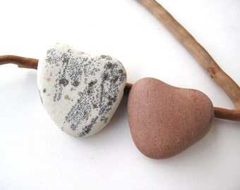 Stone Heart Shaped Rock Valentine Day Gift Pebble Heart Natural Stone Heart River Stone Heart Diy Craft Wedding Gift GINGER and MINT