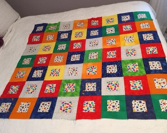 Scrappy Unfinished Baby Quilt Top Ready To Quilt