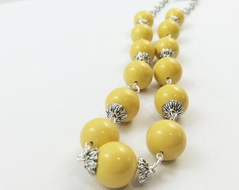 Sunflower Yellow Necklace / Yellow Necklace / Sunshine Yellow Necklace / Statement Necklace