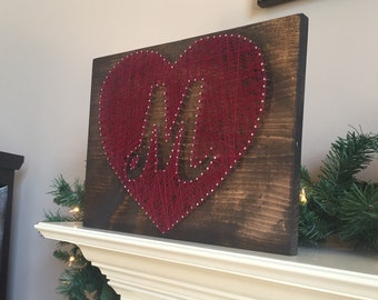 Made to order monogram heart