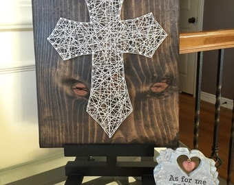 Cross string art