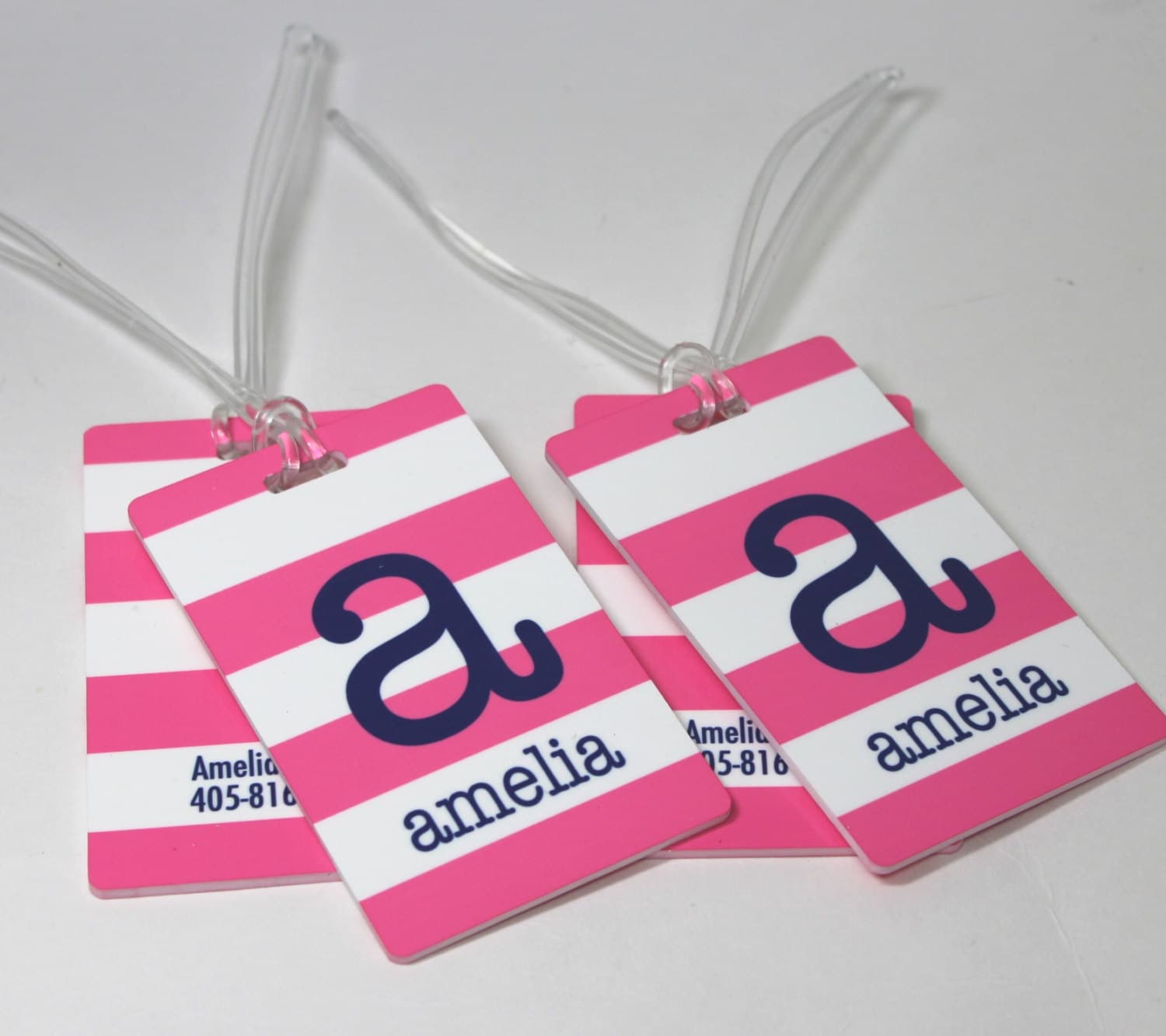 Custom Luggage Tags Personalized Bag Tags Set Of Two