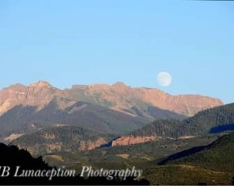 Moon over Ouray Colorado