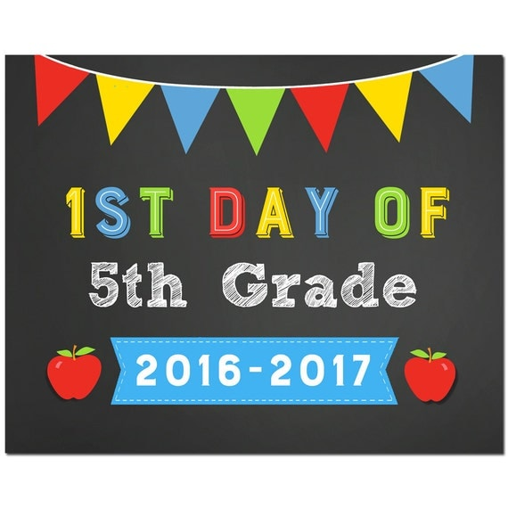 Items similar to 50% OFF SALE - First Day of 5th Grade ...
