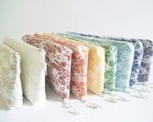 Colorful Rainbow Wedding Clutches, Bride and Bridesmaid Purses, Set of 8 Bags, Romantic Wedding Gifts