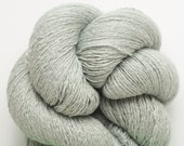 Pale Sage Silk Cashmere Lace Weight Recycled Yarn, 1665 Yards Available, Reclaimed Silk Cashmere Yarn