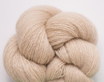 Sandbox II Recycled Lace Weight Cashmere Yarn, 941 Yards Available, Beige Light Tan Cashmere