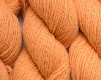 Pumpkin Lambswool Recycled Aran Weight Yarn, 232 Yards Available