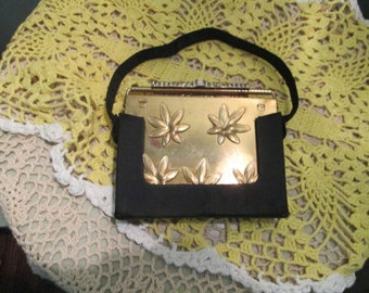 Vintage Vanity Purse Volupte / Art Deco Compact Cigarette Purse / Cosmetic Evening Bag