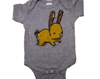 bunny baby one piece body suit, bunny baby apparel, bunny infant jumper, bunny romper, baby gift, baby shower gift, onesie